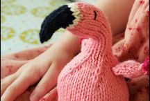 Knitted animals and dolls