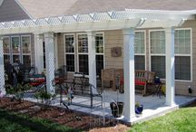 Aluminum Decking & Railing / Aluminum decking, railings, and pergolas from Nexan. / by Asher Lasting Exteriors