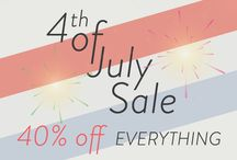 4th of July Sale! / Our 4th of July Sale starts on July 1st with 40% off EVERYTHING! / by Maggy London