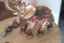 elefantes ceramica