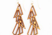 LASER CUT EARRINGS / Laser cut earrings ideas