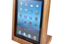 Wooden iPad holder / Timbert Tab walnut, default version