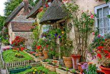 Cottage ~ Campagne ~ Vidiek / garden, house, landscape...  design, ideas...