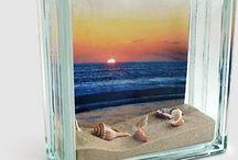 artesanato em tijolos de vidro