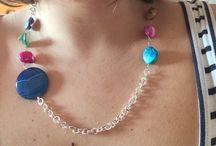 Collana artigianale / Collana in ottone e pietre dure, interamente fatta a mano!!!