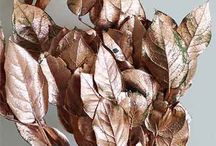 Copper Leaf Branches, Grass, Pods and Palm Fronds / A variety of lasting botanicals with a copper finish have been added over at Branches Wholesale.