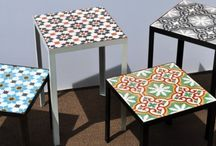 Tiled sidetable