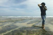 ujung genteng beach / traveling,, touring,,adventure