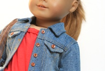 Liberty Jane Denim Jacket / Your 18 inch Doll will stand out in the crowd wearing a jacket made from the Liberty Jane Denim Jacket Doll Clothes Pattern! This has become a true classic! Tiny authentic detail is the key to a realistic looking scaled down jacket and this one has captured those details perfectly! See all the beautifully created jackets made from this popular pattern...