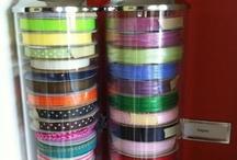 craft storage ideas / by craftyvron madgranny