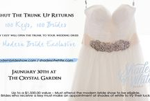 Shut The Trunk Up / Shut The Trunk Up presented by Shades of White Bridal Fashions Up to a $1,500.00 value. Must attend the Modern Bride Show at Crystal Garden Jan 30 2016 to be eligible. #brides #weddingshow DVBA YYJ News Victoria Conference Centre #LetsbringIt #engagedcouples