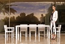 COLLECTION FRAME / Ramón Esteve creates a new collection for VONDOM, Frame Collection. Frame was born from looking for serene and timeless shapes using elementary geometry. The result are solid pieces with light appearance, offering at the same time the maximum comfort thanks to its ergonomic design. This optimal furniture set for outdoor with which you can create warm and elegant atmospheres thanks to its versatile shapes.  / by Vondom