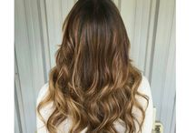 Clients wearing Aqua Hair Extensions