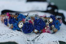 NECLACES, CHOKERS - Vintage, boho style necklaces, textile necklaces, mixed media neclaces