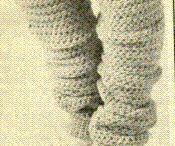 POLAINAS DE CROCHE (Leg Warmers Crochet), BORDA PARA BOTAS e MEIAS 3/4 / POLAINAS DE CROCHE (Leg Warmers Crochet)