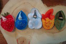 Őszi dekorációk, manók
