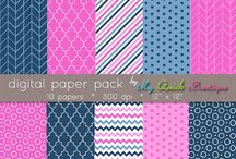 clipart & digital papers / Instant download clipart and digital paper and digital scrapbooking. Personal & commercial use ok. Digital graphics, frames, logos, frames, tags, clipart and background pattern papers and graphics.