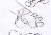 ayak çizimleri