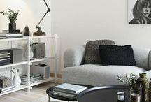 Interior | Grey, black, white