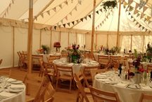 Rachel and David at The Traddock, Austwick / Marquee wedding in traditional canvas and pole marquee