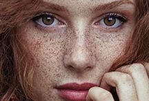 beautiful faces and freckles