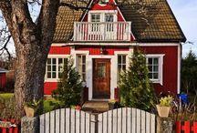 traumhafte Landhäuser, auch rote Schwedenhäuser