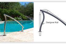 Swimming pool hand rail