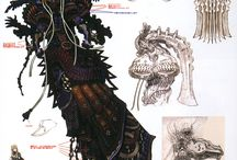 Monster and Creature Concept arts.