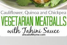 "Veggie Meatballs / Vegetarian and vegan meatless ""meatballs""."
