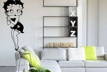 Cartoon wall decal