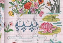 crossstitch flowers