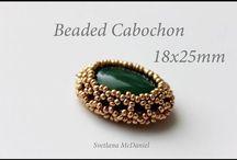 Кабошон- Кристаллы-Оплетка