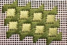 tejido en esterilla con lana