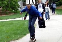 Viral Skateboarding Professor / Viral pics of skateboarding professor via @eriktronica