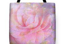 """Dreamy floral tote bags / """"tote bags"""", """"floral tote bags"""", """"beautiful abstract flowers"""", """"vivien jane c"""",#Flowers in abstract tote bags. a couple by vivien jane c and other bags of other designers on pinterest"""