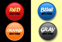 How to create a simple glossy badge / How to create a simple glossy badge