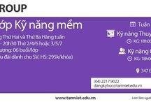 Khóa học Kỹ năng mềm dành cho cộng đồng / Giới thiệu các khóa học kỹ năng mềm do Tâm Việt khai giảng vào tối Thứ Hai và Thứ Ba hàng tuần tại 347 Đội Cấn. Thông tin chi tiết luôn được cập nhật tại website: http://tamviet.edu.vn