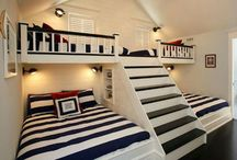 awesome bed rooms with bunk beds❤