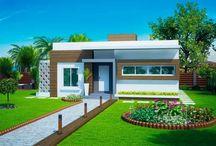 jardim para fachada casas