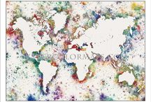 Mind the Map / Artistic images of maps and skylines (and more...)