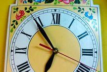 Hand paint clock / kézzel festett fa órák / Kézzel festett fa órák/Hand paint clock /