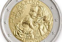 """Cod. 296: 2€ commemorativi """"Tintoretto"""" / Comprala su/Buy it on: http://www.ufn.sm/it/cod-296-2018.html"""