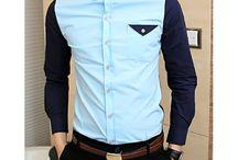 Pocket details formal shirts men
