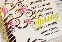 Canvas and paper flowers