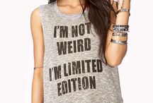 graphic style / tees, tanks and tops that speak their mind