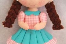 boneca feltro