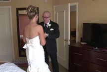 dads and daughters / Fathers and daughters expressing love on the daughter's wedding day.  There's not much room around being overtly sentimental on the day Daddy gives his little girl away and she becomes a bride.
