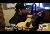 Zach Myers and Justin Moore at KDKB studios in Phoenix, AZ – Interview and performance