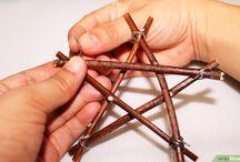 Výroba vánoční hvězdy ze skořice,větviček  ....