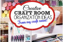 Craft Rooms / Craft Room ideas to get organized!